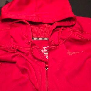 Red Nike Hoodie Jacket